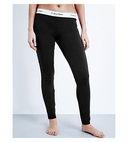 CALVIN KLEIN Modern cotton-jersey pyjama bottoms (001+black
