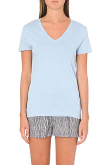 CALVIN KLEIN Cotton v-neck t-shirt
