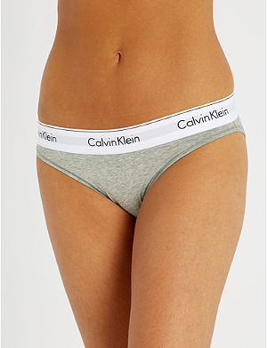 CALVIN KLEIN Modern stretch-cotton bikini briefs
