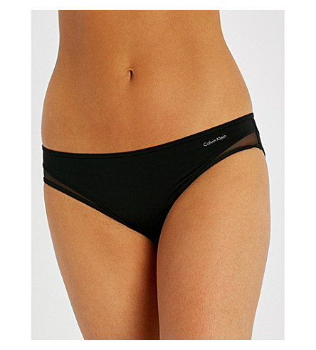CALVIN KLEIN Naked Touch Tailored stretch-jersey bikini briefs (001+black