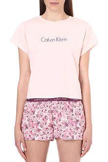 CALVIN KLEIN Cropped jersey pyjama top