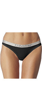 CALVIN KLEIN Metal chrome logo thong