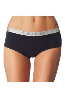 CALVIN KLEIN Metal chrome logo shorts