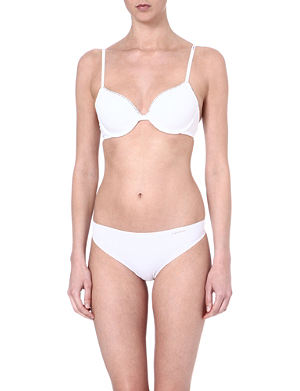 CALVIN KLEIN Cotton-blend push-up bra