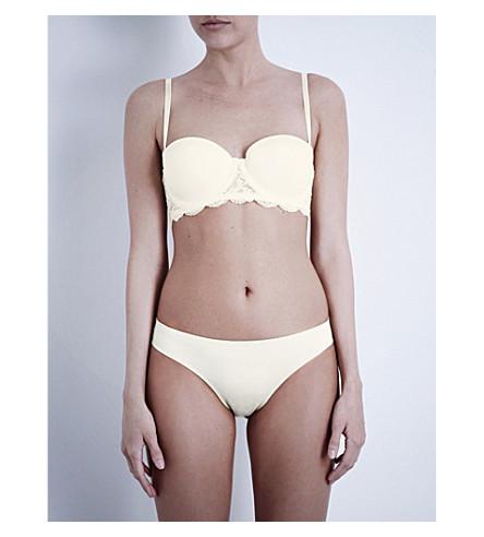 CALVIN KLEIN Seductive Comfort lace strapless bra (Ivory