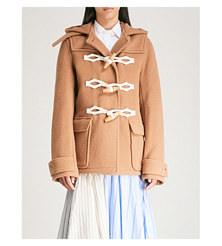 JW ANDERSON Hooded wool duffle jacket (Camel