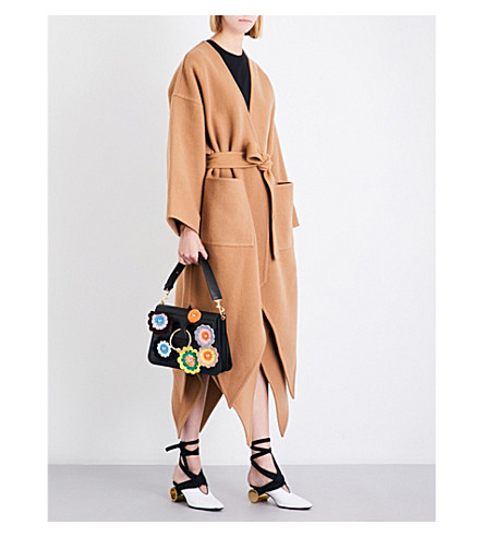 JW ANDERSON Pointed-hem wool and cashmere-blend coat (Camel