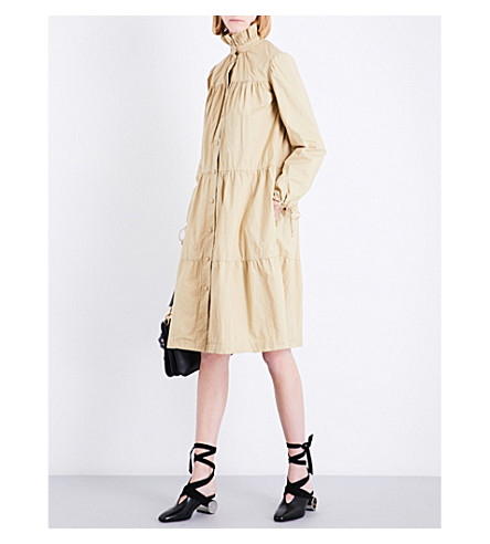 JW ANDERSON Tiered single-breasted washed-cotton coat (Hemp