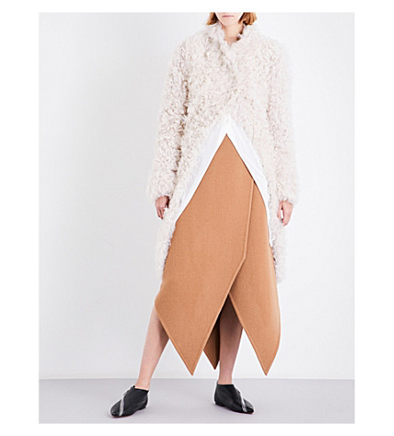 JW ANDERSON Shearling tail coat (Off+white