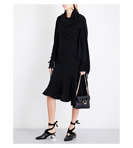 JW ANDERSON Asymmetric wool dress (Black