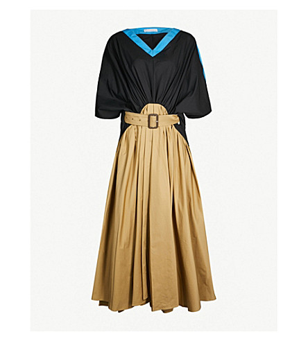 JW ANDERSON Belted A-line cotton maxi dress (Toast