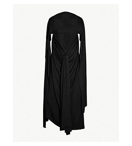 JW ANDERSON Cowl-neck draped crepe maxi dress (Black