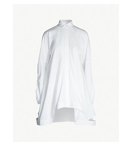 JW ANDERSON Puffed-sleeve cotton shirt dress (White