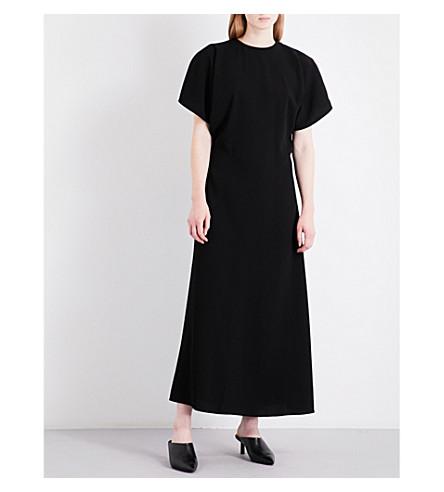 JW ANDERSON A-line crepe gown (Black