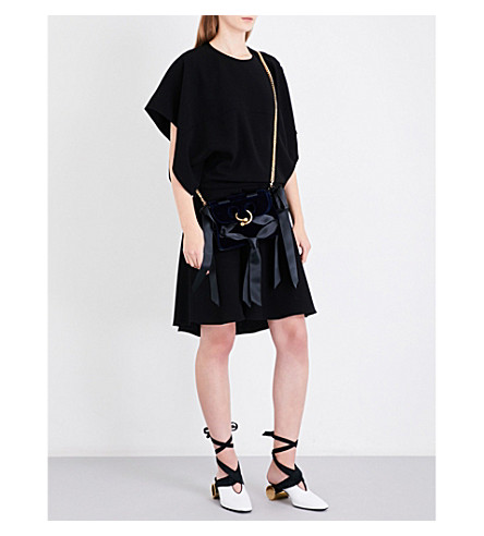 JW ANDERSON Draped crepe mini dress (Black