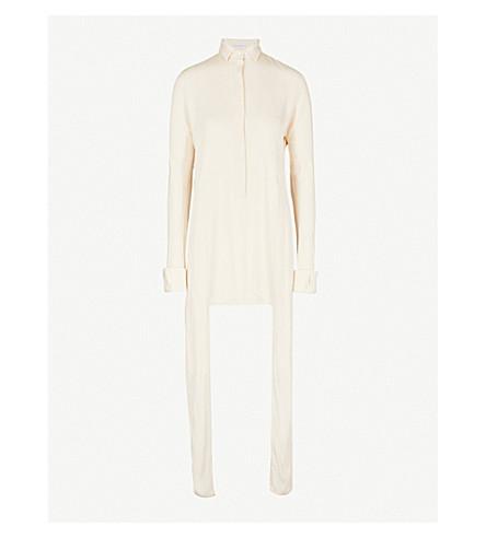 JW ANDERSON Side-panel woven shirt dress (Calico