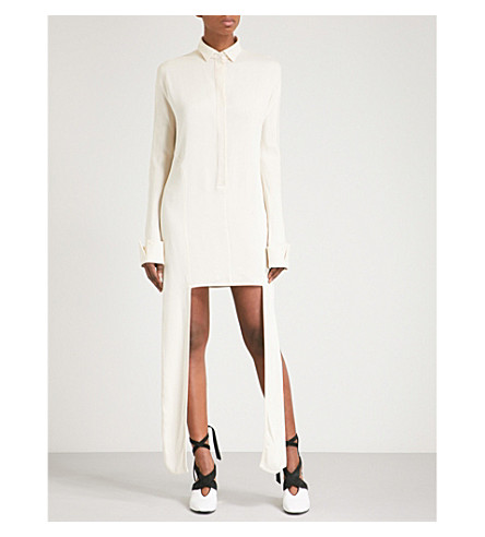 JW ANDERSON Side-panel woven shirt dress (Calico