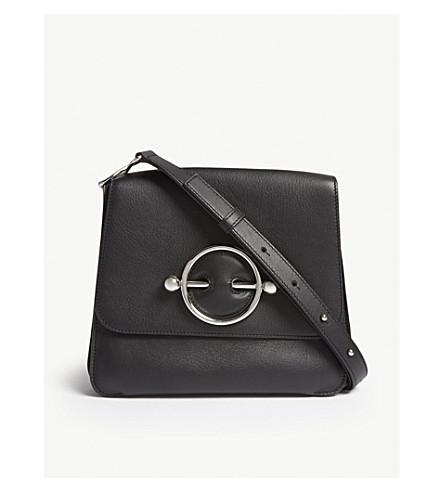 JW ANDERSON Disc leather shoulder bag (Black