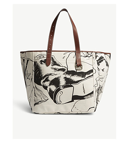 CALICO BELT PRINTED TOTE