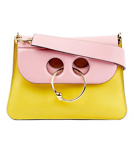 JW ANDERSON Pierce medium leather shoulder bag (Yellow bubblegum