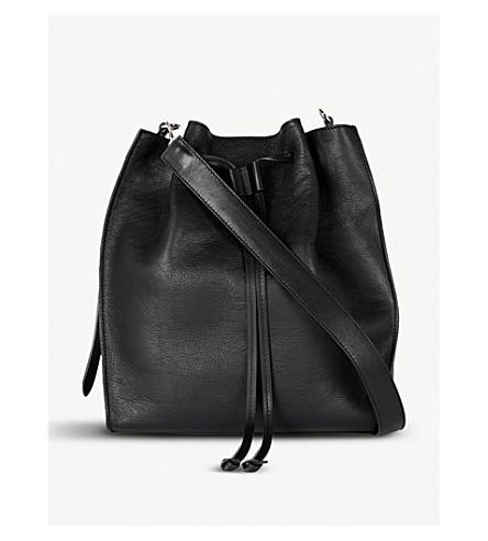 JW ANDERSON Drawstring leather bag (Black