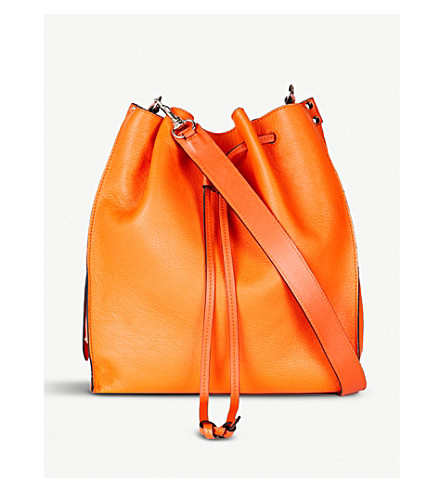 JW ANDERSON Drawstring leather bag (Tangerine