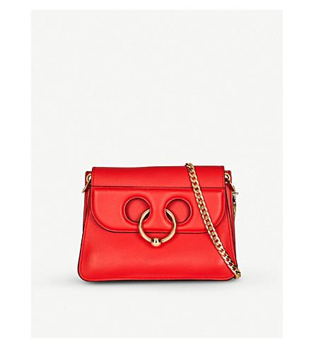 JW ANDERSON Mini Pierce leather shoulder bag (Scarlet