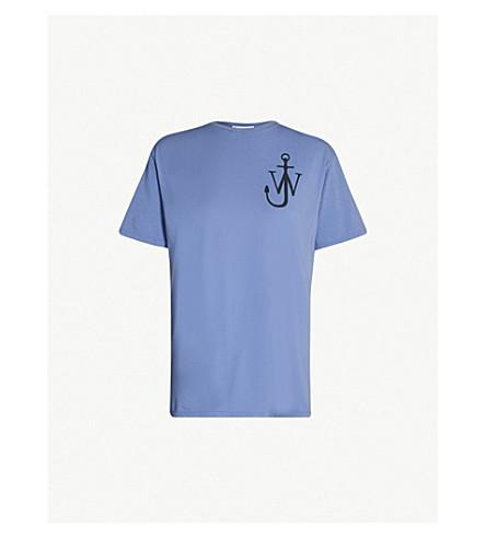 JW ANDERSON Anchor logo-print cotton-jersey T-shirt (Indigo