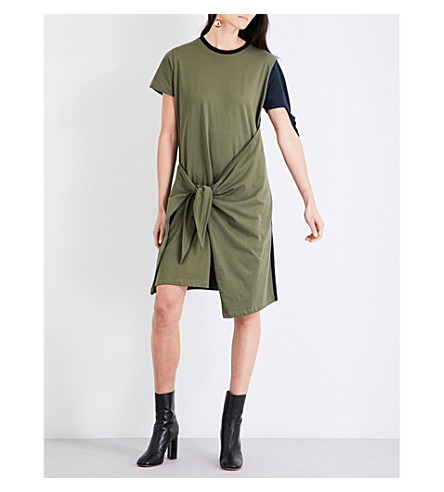 JW ANDERSON Contrast-panel cotton dress (Khaki