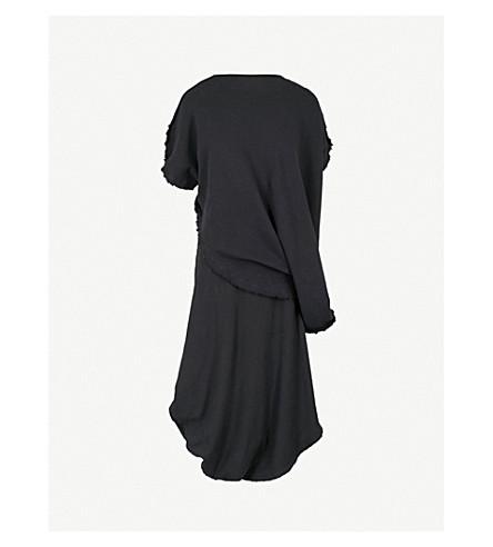 JW ANDERSON Asymmetric stretch-cotton midi dress (Black