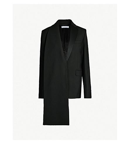 JW ANDERSON Asymmetric stretch-wool blazer (Black