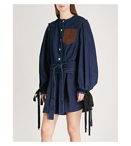 JW ANDERSON Brand-patch denim jacket (Indigo