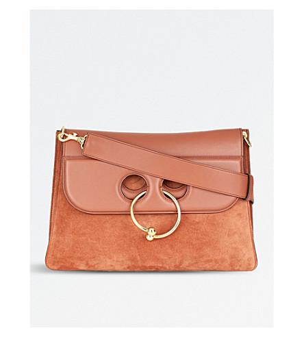 JW ANDERSON Pierce large leather cross-body bag (Tan