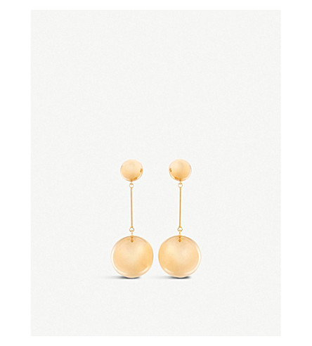 JW ANDERSON Sphere drop earrings (Rose+gold