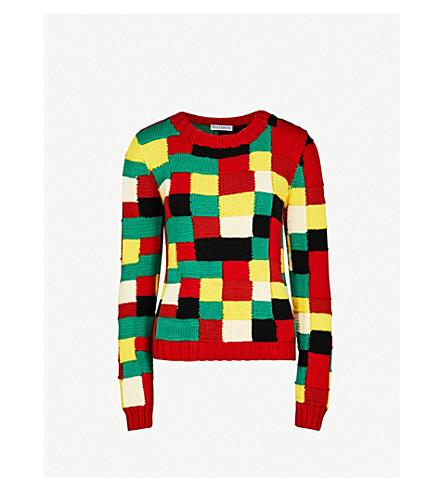JW ANDERSON Mosaic knitted wool jumper (Multi