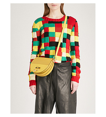 JW ANDERSON Mosaic knitted wool jumper (Multi