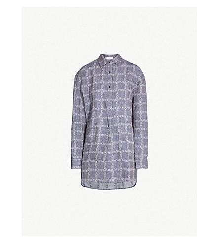 JW ANDERSON Logo-jacquard linen shirt (Navy