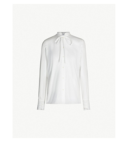 JW ANDERSON Broderie anglaise cotton shirt (White