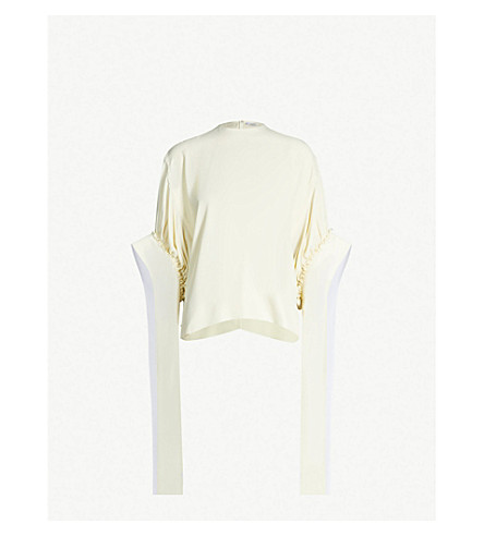 JW ANDERSON Exaggerated-sleeve crepe shirt (Off white