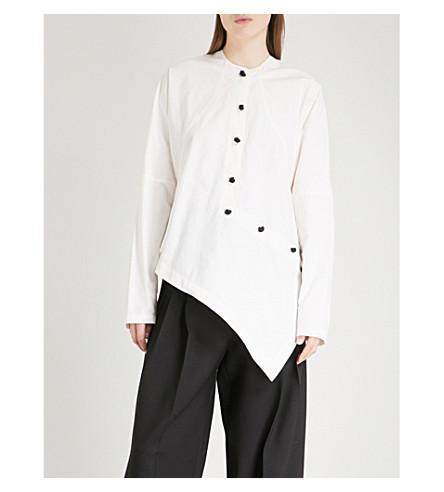 JW ANDERSON Asymmetric cotton-blend shirt (White