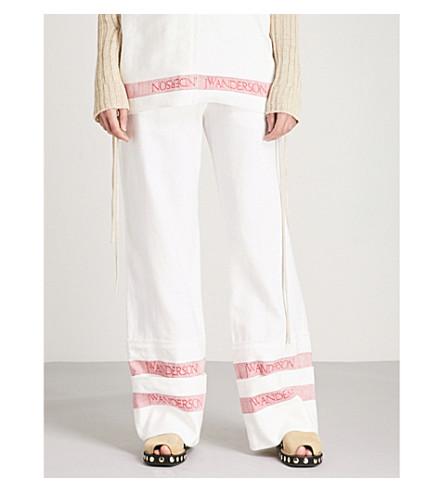 JW ANDERSON Wide-leg linen trousers (White