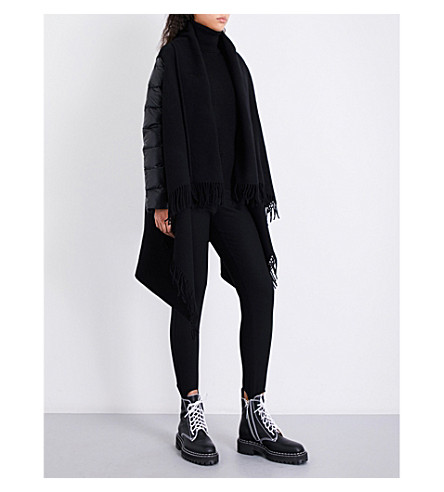 397559183 MONCLER - Shawl-lapel wool and quilted-shell cape