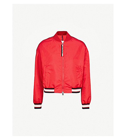 MONCLER Actinote shell bomber jacket (Red