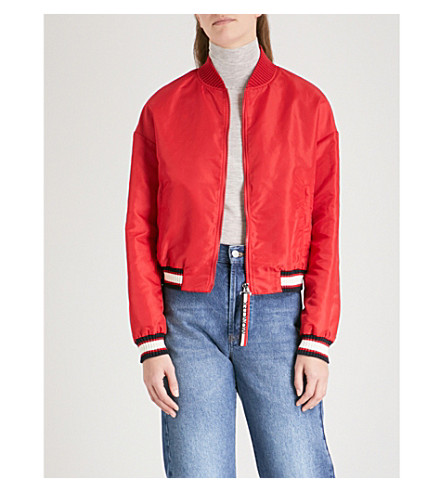 red moncler bomber jacket