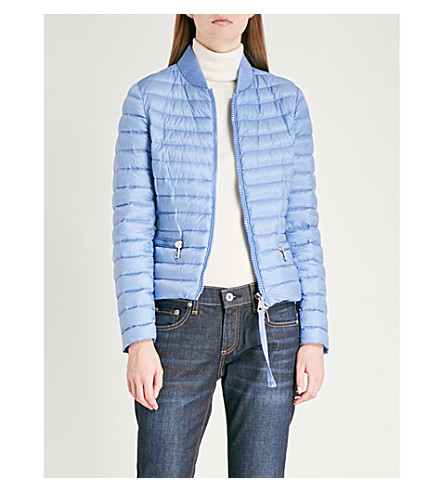 MONCLER Quilted shell-down bomber jacket (Light+blue