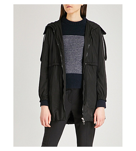 MONCLER Disthene shell coat (Black