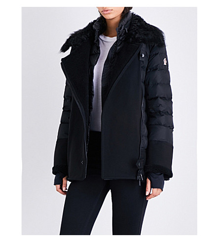 MONCLER Montblanc shearling-trimmed shell-down jacket (Black