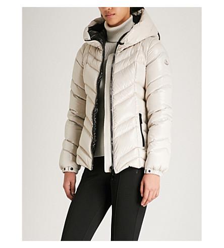MONCLER coat shell hooded MONCLER Fuligule Fuligule Beige down YIxrqY61w