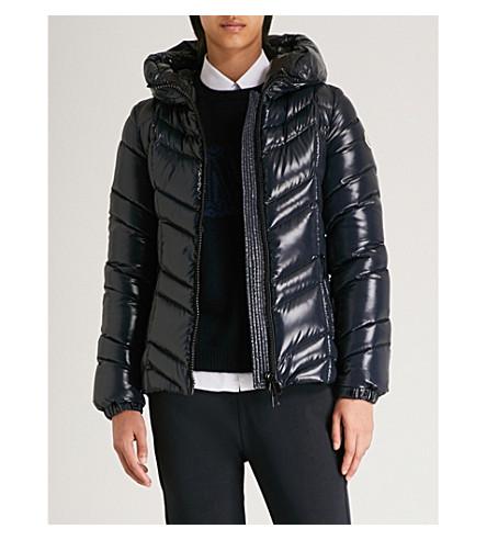 Fuligule hooded shell-down coat