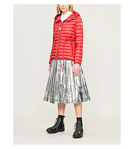 MONCLER Raie quilted coat (Red